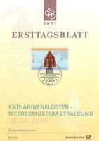 ETB RFA 2001 MUSEE ALLEMAND DE LA MER STRALSUND YT 2022