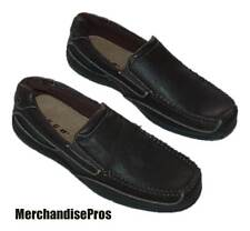 MEN'S NYBG SLIP-ON BOAT SHOES DECK SHOE 10M MEDIUM BROWN FAUX LEATHER  NEW!