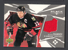 Alex Zhamnov 2003-04 Black Diamond Diamond Threads Game Worn Jersey Card Senator