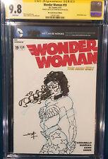 FRANK MILLER ORIGINAL Sketch Art CGC 9.8 Signed WONDER WOMAN Gal Gadot Batman