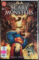 JLA Aterrador MONSTERS #2 VF 1º DIBUJO DC Comics