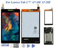 """Pour Lenovo Tab 2 7"""" A7-10F A7-20F Écran Tactile LCD Afficher Assemblée + Cadre"""