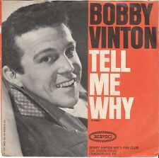 Bobby Vinton TEEN 45 & PS (Epic 9687) Tell Me Why/ Remembering    VG++/M-