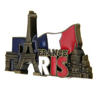 France Paris Tower Landmarks Tourist Travel Souvenir 3D Metal Fridge Magnet Gift