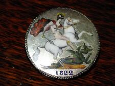 1822 Silver Crown Enamelled Brooch Exceptional Example
