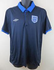 Retro Blue Umbro England Football Shirt Soccer Jersey Training 3 Lions Mens XL