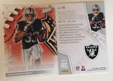 2016 Panini Black Friday RC (#/499 Made) DEANDRE WASHINGTON Raiders Rookie #58