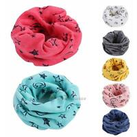 Winter Warm Boys Girls Shawl Scarf Collar Baby Stars O Ring Neck Wraps Scarves