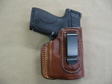 Ruger LC9, LC9s  With Laser IWB Leather In Waistband Conceal Carry Holster TAN R