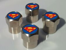 SUPERMAN LOGO TYRE VALVE CAPS FOR TIRE WHEEL