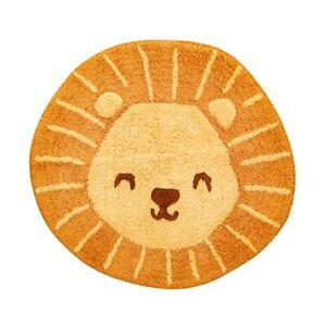 Sass & Belle Lion Head Animal Rug Kids Bedroom Nursery Carpet Mat Nursery