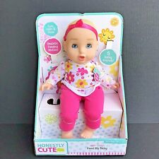 """Honestly Cute Brand Caucasian Girl Baby Doll 14"""" W/5 Baby Sounds NO Bottle -O"""