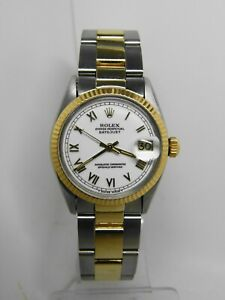 Watch ROLEX Oyster Perpetual Datejust Reference 6827 Of 1975 31mm Vintage