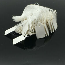 1000x White Blank Writable Price Tags Message Cards w/ String Clothing Tags