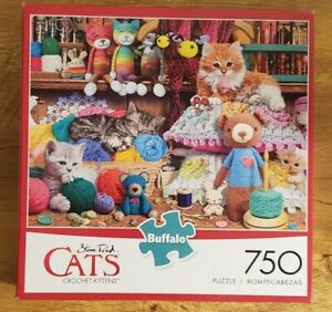 Buffalo Games - Steve Read CATS - Crochet Kittens - 750 Pc Puzzle Pre-Owned