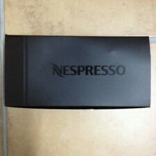 Nespresso Set of 2 Glass Expresso Cups and Porcelain Grey Saucers NEW