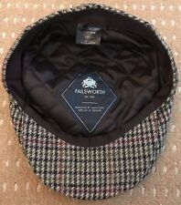 Failsworth Cap Country Wear Shooting Tweed Wool Large Flat Cap 60cm - FREEPOST