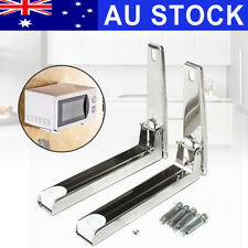 AU Foldable Microwave Oven Bracket Wall Mount Stretch Shelf Rack Stainless Steel