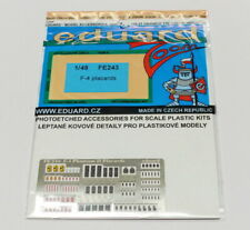 Eduard Colour Photoetch for 1/48 F-4 Phantom II Placards