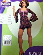 60's Girl Halloween Costume Standard Adult Cosplay Fancy Dress