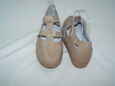 Size 5EEE beige leather wedge heel comfort shoes from Heavenly Soles  Pink114