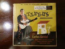 """Carlos Gardel - Tangos Inmortalizados (2 × Vinyl, 7"""", 45 RPM, US RCA EPBT-3019)"""