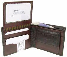 MENS BROWN FULL GRAIN REAL LEATHER BI FOLD WALLET CREDIT CARD HOLDER UKNEW br805