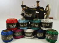 Glitter Embroidery Thread Metallic Lincatex Gold Rush 80 metre balls ALL COLOURS