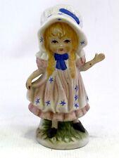 Little Bo Peep style fille Figurine céramique 15cm haut peint à la main