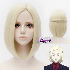 Tokyo Ghoul Akira Mado Light Blonde 12 Inches Short Straight Anime Cosplay Wig