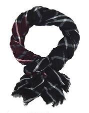Bufanda Hombre Negro Rojo Burdeos Blanco Ella Jonte Más Amplio Suave viscosa