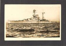 REAL-PHOTO PC.:  HMS ROYAL SOVEREIGN - BRITISH WW-2 NAVY BATTLESHIP - Writing