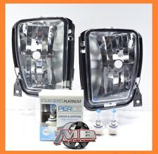 2013 2014 2015 2016 Dodge Ram 1500 Clear Fog Lights Lamps Pair PERDE 9006 Bulbs