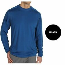 Polyester Long Sleeve Solid Basic Tees for Men