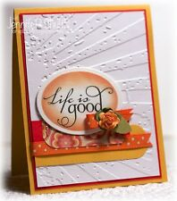Tim Holtz Rays & Circle 2 Pcembossing Folders u/w art impressions rubber stamps