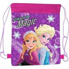 Kinder Frozen Elsa Anna Unleash Magic SPORTS Zugschnur Swim Fitness Tasche 7446