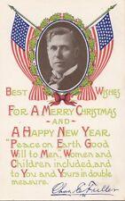 Postcard Radio Christian Evangelist Chas E Fuller American Flags