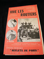 Partition Vive les routiers Boisserie Marie claire Segurel Margelli Music Sheet