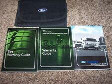 2012 Ford E150 E250 E350 Van Owner User Manual Commercial Recreational XL XLT
