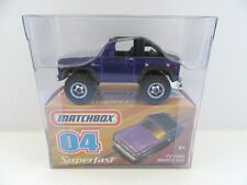 MATCHBOX SUPERFAST 58 1972 FORD BRONCO-Violet - 2008 question-Comme neuf/boxed