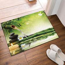 Door Mat Bathroom Rug Bedtoom Carpet Bath Mats Rug Non-Slip Bamboo and pebbles