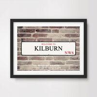 KILBURN NW6 London Postcode Area ART PRINT Poster District Borough Sign Picture