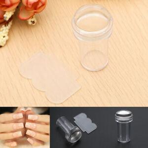 2Pcs Clear Silicone Stamper +Scraper Nail Art Image Stamp Tool
