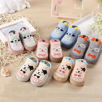 New Baby Boys Girls Cartoon Ears Floor Socks Anti-Slip Step Shoes Socks Boot VS