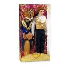 "NEW!! Disney Beauty and the Beast Prince Adam 12"" Doll w/ Beast Head Coat"