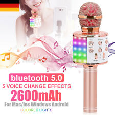 10H LED Licht Karaoke Mikrofon Wireless KTV bluetooth Lautsprecher Mic Handheld