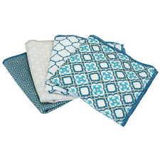4 Set Design Spültücher Putztuch blau Türkis Orient-Muster Spüllappen Putzlappen