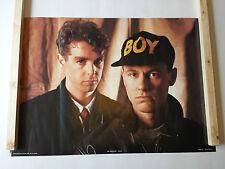 PET SHOP BOYS POSTER LARGE VINTAGE ORIGINAL 1986 ANABAS AA223 WAS UNOPENED