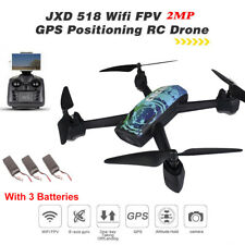 JXD 518 Wifi Drone GPS Track Control RC FPV HD Camera Altitude Hold +3 Batteries