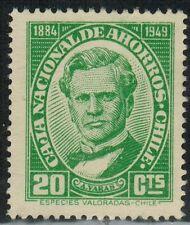 Chile 1947 Stamp Caja Nacional de Ahorros 20 Ctvs (A295)